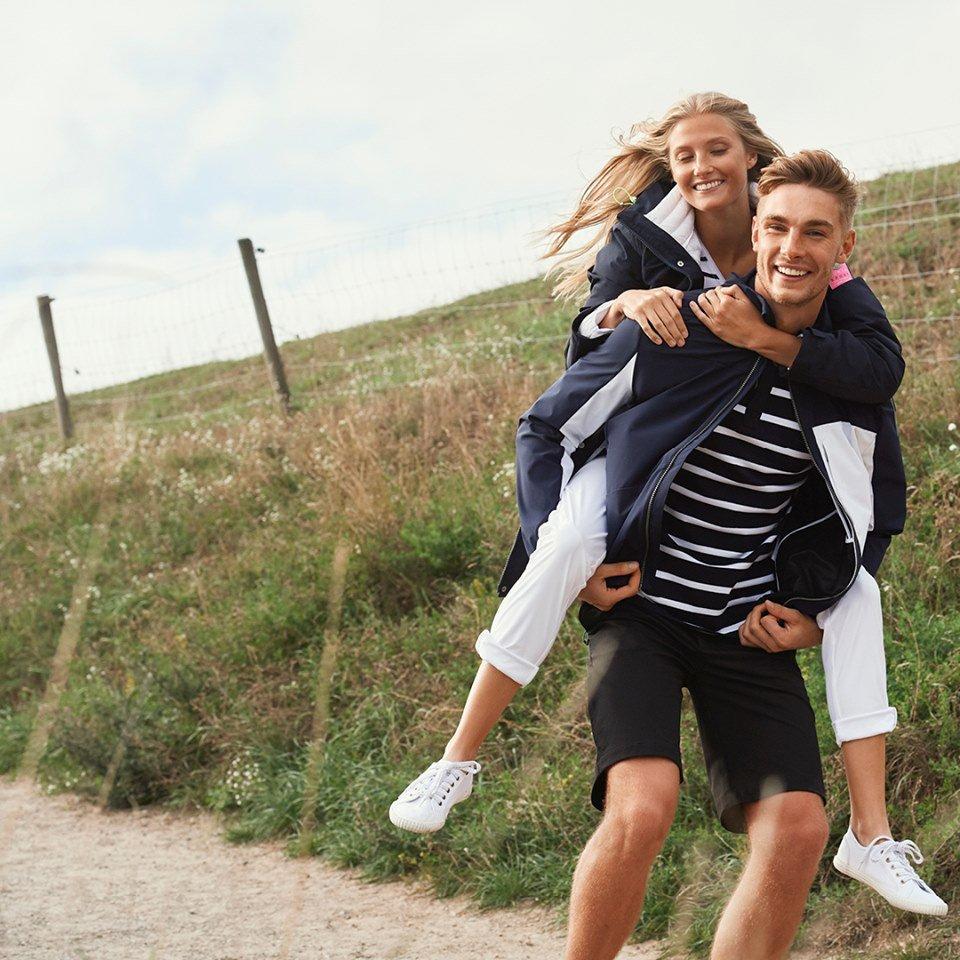 nainen ja mies Luhdan kampanjakuvassa